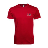 Next Level SoftStyle Cardinal T Shirt-Official Logo