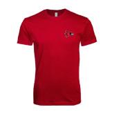 Next Level SoftStyle Cardinal T Shirt-Redhawk Head