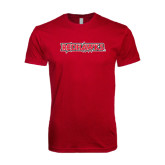 Next Level SoftStyle Cardinal T Shirt-Redhawks