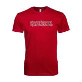Next Level SoftStyle Cardinal T Shirt-Redhawks