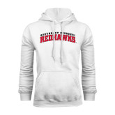 White Fleece Hoodie-Arched Southeast Missouri Redhawks