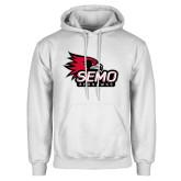 Bookstore White Fleece Hoodie-SEMO Logo with Redhawks