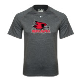 State Under Armour Carbon Heather Tech Tee-Official Logo