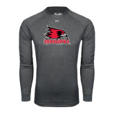 State Under Armour Carbon Heather Long Sleeve Tech Tee-Official Logo