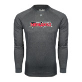 State Under Armour Carbon Heather Long Sleeve Tech Tee-Southeast Missouri Redhawks
