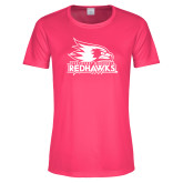 Bookstore Ladies Performance Hot Pink Tee-Primary Logo