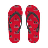 Bookstore Ladies Full Color Flip Flops-Primary Logo