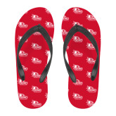 Bookstore Full Color Flip Flops-SEMO Logo with Redhawks