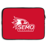 Bookstore 15 inch Neoprene Laptop Sleeve-SEMO Logo with Redhawks