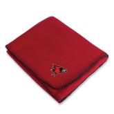 Red Arctic Fleece Blanket-Redhawk Head