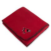 Bookstore Red Arctic Fleece Blanket-Hawk Head
