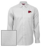 Bookstore Red House White Diamond Dobby Long Sleeve Shirt-Hawk Head