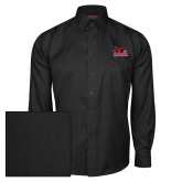 Bookstore Red House Black Herringbone Long Sleeve Shirt-Primary Logo