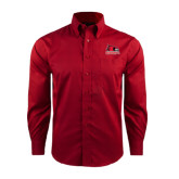 State Red House Red Long Sleeve Shirt-Official Logo