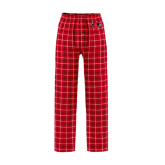 Red/Black Flannel Pajama Pant-Redhawk Head