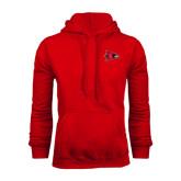 Red Fleece Hoodie-Redhawk Head
