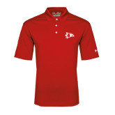 Under Armour Red Performance Polo-Redhawk Head