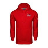 State Under Armour Red Performance Sweats Team Hood-Official Logo