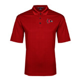 Red Performance Fine Jacquard Polo-Redhawk Head