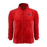 State Fleece Full Zip Red Jacket-Redhawk Head
