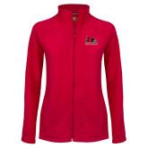 Bookstore Ladies Fleece Full Zip Red Jacket-Primary Logo