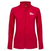 Bookstore Ladies Fleece Full Zip Red Jacket-SEMO Logo Embroidery