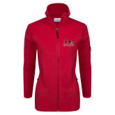 Bookstore Columbia Ladies Full Zip Red Fleece Jacket-Official Logo