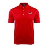 State Red Dry Mesh Polo-Official Logo