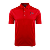 State Red Dry Mesh Polo-Redhawk Head