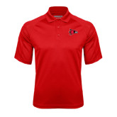 State Red Textured Saddle Shoulder Polo-Redhawk Head