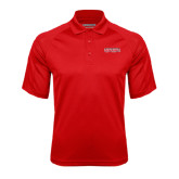 Red Textured Saddle Shoulder Polo-Southeast Missouri Redhawks