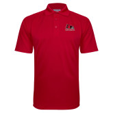 Bookstore Red Textured Saddle Shoulder Polo-Primary Logo