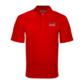 State Red Mini Stripe Polo-Official Logo