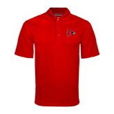 State Red Mini Stripe Polo-Redhawk Head