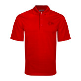 Red Mini Stripe Polo-Redhawk Head