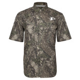 Camo Short Sleeve Performance Fishing Shirt-Redhawk Head