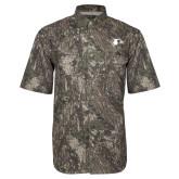 Camo Short Sleeve Performance Fishing Shirt-Redhawk Head