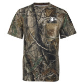 Realtree Camo T Shirt w/Pocket-Redhawk Head