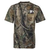 Realtree Camo T Shirt w/Pocket-Redhawk Head
