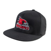 Black OttoFlex Flat Bill Pro Style Hat-Official Logo
