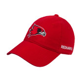 Red Twill Unstructured Low Profile Hat-Redhawk Head
