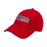 Red Twill Unstructured Low Profile Hat-Southeast Missouri Redhawks