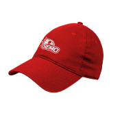 Bookstore Red Twill Unstructured Low Profile Hat-SEMO Logo Embroidery