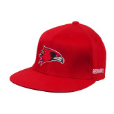 State Red OttoFlex Flat Bill Pro Style Hat-Redhawk Head