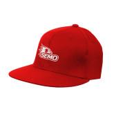 Bookstore Red OttoFlex Flat Bill Pro Style Hat-SEMO Logo Embroidery