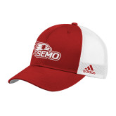 Bookstore Adidas Red Structured Adjustable Hat-SEMO Logo Embroidery