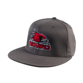 Charcoal Flexfit Flat Bill Pro Style Hat-Official Logo