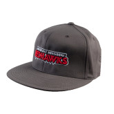 Charcoal Flexfit Flat Bill Pro Style Hat-Southeast Missouri Redhawks