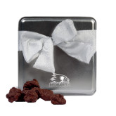 Decadent Chocolate Clusters Silver Medium Tin-Offical Logo Engraved