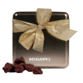 State Decadent Chocolate Clusters Gold Medium Tin-Redhawks Engraved